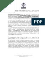 PROCEDIMIENTO VERBAL - El investigado tiene derecho de presentar alegatos de conclusión