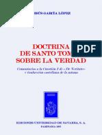 García López, Jesús. Doctrina de Santo Tomás sobre la Verdad. EUNSA, 1967