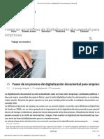 Fases de un proceso de digitalización documental para empresas