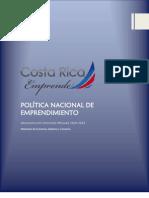 Política Nacional de Emprendedurismo en Costa Rica