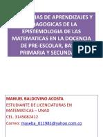 ESTRATEGIAS DE APRENDIZAJES Y PEDAGOGICAS DE LA EPISTEMOLOGIA