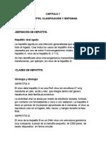 Hepatitis, clasificación y síntomas