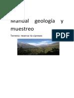 Informe geología y muestreo