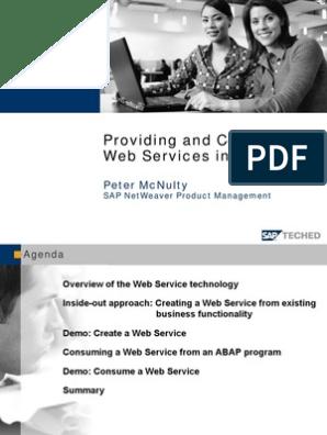 ABAP - Web Service - Providing and Consuming | Web Service