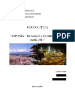 Japonia - Dezvoltare Si Geostrategie Dupa Martie 2011