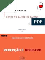 ERROS NO BANCO DE SANGUE