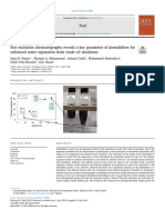 Size exclusion chromatography reveals a key parameter of demulsifiers for