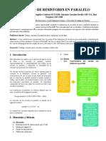 LABORATORIO 6 - CIRCUITO DE RESISTORES EN PARALELO