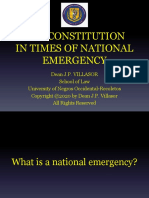 The Constitution in Times of National Emergency.pals Lecture Updated