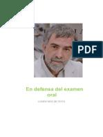 Comentario de texto Defensa Del Examen Oral.