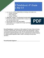 4th grade plans - week of may 4-8