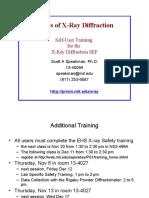 Basics of X Ray Diffraction