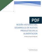 Reseña Historica Del Desarrollo de Nuevos Productos en La Alimentacion