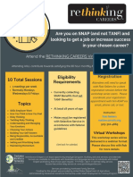 May-June 2020 Rethinking Careers Flyer - Virtual Offering