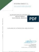 Acondicionamiento del Río Butrón (Mungia, Bizkaia). Memoria de la prospección arqueológica