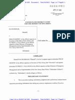 Complaint, Behar v.  Murphy, No. 3:20-cv-05206 (D. N.J. Apr. 28, 2020)