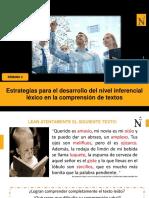 D4. Estrategias para el desarrollo del nivel inferencial _léxico_