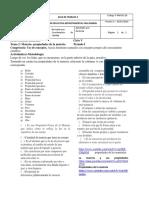 GUIAS DE TRABAJO 1,2,3, QUIMICA CICLO V ESTUDIANTES EMPRESAS. DOCENTE PAULINA RODRIGUEZ