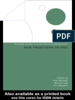 NEW FRONTIERS IN HUMAN RESOURCE DEVELOPMENT (ROUTLEDGE STUDIES IN HUMAN RESOURCE DEVELOPMENT)