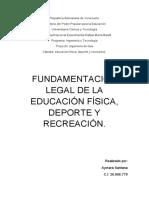 EDUCACION FISICA, DEPORTE Y RECREACION  UNERMB