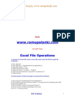 QTP Excel Sheet Operations