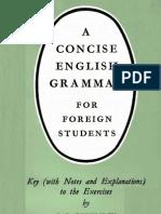 A Concise English Grammar Keys