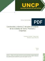 Carotenoides y vitamina C del pole