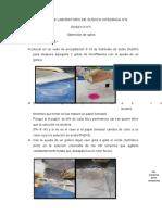 procedimiento quimica n°6 ensayo n°3