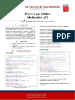 Modulacion AM con Matlab