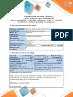 Guía de actividades y rúbrica de evaluación - Paso 5 - Construir Dashboards con excel y realizar investigación