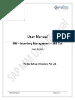 SAP MM User Training MILL CUT Process