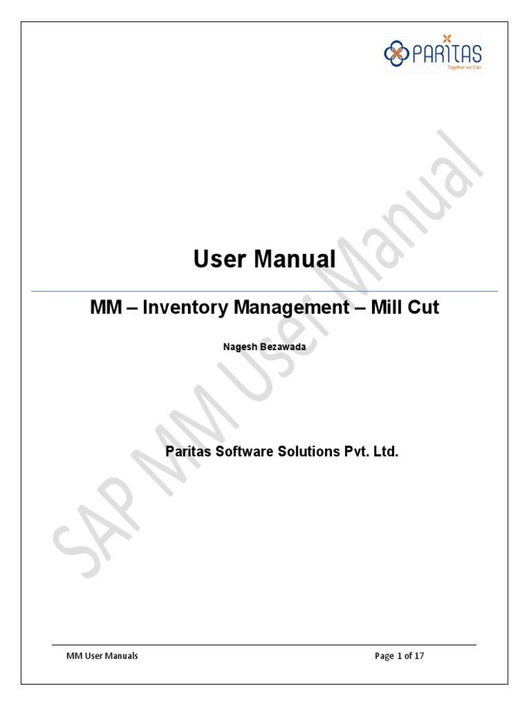 sap mm user training mill cut process computing technology rh es scribd com SAP for Beginners SAP for Beginners
