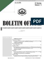 Portaria nº 4 - 2016 - Eleva as Rerpartições de Finanças - Sal, Boa Vista e Sta Catarina à Repartição de Nivel I; Cria a Alfândega do Sal; eleva à categoria de Alfândega a Delegação Aduaneira d.pdf