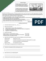 Climate Change -worksheet