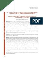 Istraživanje motivacije zaposlenih u Srbiji, zasnovano na konkretnom uzorku