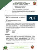 TDR MOVILIZACION Y DESMOVILIZACION DE MAQUINARIA