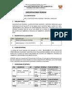 ESPECIFICACIONES TECNICAS - AFIRMADO
