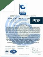 TIGRE PERU TUBOS Y CONEXIONES - ISO9001.pdf