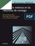 PROGRAMA PREVIO. Prevenir la violencia en las relaciones de noviazgo - Marina Muñoz Rivas
