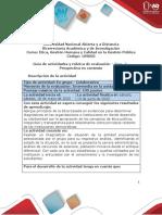 Guía de actividades y rúbrica de evaluación - Unidad 2- Fase 3 - Prospectiva en contexto