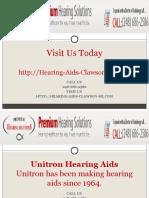Unitron Hearing Aids Clawson MI