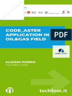 CODE_ASTER APPLICATION IN THE OIL&GAS FIELD