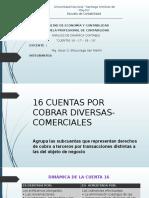 CUENTAS POR COBRAR DIVERSAS - COMERCIALES