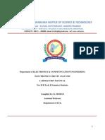 Electronic Circuit Analysis Laboratory Mannual