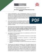 Recomendaciones para el Plan de I.E. privadas