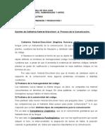 Kerbrat-Orecchioni - PROCESO DE LA COMUNICACIÓN