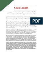 Coax Length