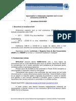 Metodologia de supraveghere a  COVID-19_Actualizare 28.04.2020