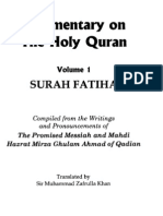 Commentary on Surah Fatiha