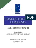 4 - Fenómenos de Superficie en Emulsiones
